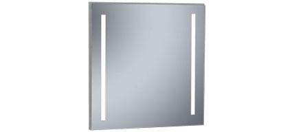 miroir lumineux led salle de bain 100x80 cm cadier. Black Bedroom Furniture Sets. Home Design Ideas