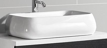 ensemble meuble vasque et colonne blanc et plan en verre wave1. Black Bedroom Furniture Sets. Home Design Ideas