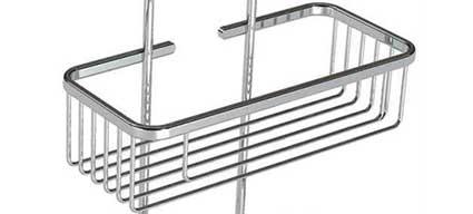 tag re double pour paroi de douche chrom e. Black Bedroom Furniture Sets. Home Design Ideas