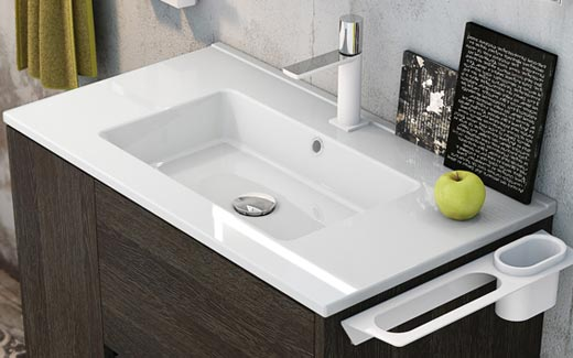 meuble salle de bain 60 cm 2 tiroirs plan c ramique code. Black Bedroom Furniture Sets. Home Design Ideas