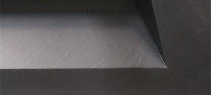 plan vasque salle de bain suspendu 81x46 cm pierre pizarra. Black Bedroom Furniture Sets. Home Design Ideas