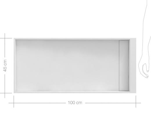 Plan Vasque 1 Robinet Resine 100 Cm : Vasque à poser en résine cm mineral